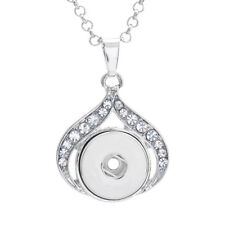 Chain For 18Mm Snap Button Charm Crystal Ginger Snap Jewelry Pendant With