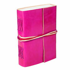 Fair Trade Handmade Leather 3-string Cerise Leather Journal - 2nd Quality