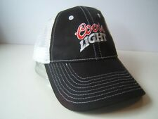 Coors Light Beer Hat Black White Snapback Trucker Cap