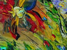 PAINTING OIL PAINT CHAOS COLOUR ABSTRACT DESIGN ART POSTER PRINT LV6139