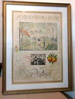 rare vintage Michael Eisemann signed XII Artist Proof lithograph sampler print