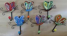 6er Set Garderobenhaken Schmetterling Haken Kinder Garderobe Eisen Keramik 1998