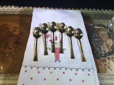 GOLDEN ST. MORITZ BARCLAY GENEVE Set of 6 Demitasse Spoons (Gold Electroplated)