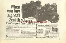 Zenith TTL / EM Camera 1980 Magazine Advert #3733