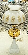 Fenton Art Glass - AMBER COIN SPOT (?)  Lamp -GTC