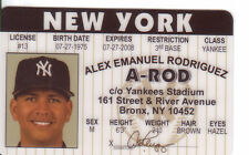Alex Rodriguez - the New York Yankees Stadium collectors card Drivers License
