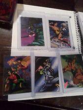 1995 Fleer DC vs Marvel Holo F/X.  LOT OF 5 NM/MT