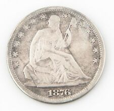 1876-S US Seated Liberty Half Dollar Silver Coin VG+ San Francisco 50c KM#A99