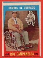 1959 Topps #550 Roy Campanella EX+ MISCUT Brooklyn Dodgers HOF FREE SHIPPING