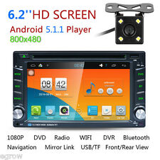 "Android 5.1 6.2"" Double 2 Din Bluetooth 3G WIFI Car DVD GPS Stereo Radio Player"