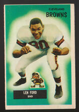 1955 BOWMAN #8 LEN FORD CLEVELAND BROWNS ROOKIE FOOTBALL CARD NM