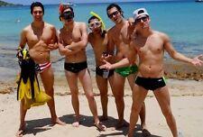Shirtless Male Beach Boy Speedo Crew Snorkling Group Studs PHOTO 4X6 N209*******