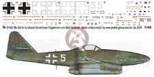 Peddinghaus 1/48 Me 262 A-1a White 5 Markings Eduard Schallmoser Munich-Riem 850