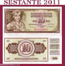 YUGOSLAVIA   10 DINARA 4.11. 1981,   P  87b   FDS / UNC