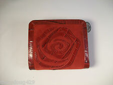 NWT Brighton Red Leather Zip Wallet Croc Shiny Leather & Red Suede, only 1