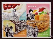 Australie 2009 Just Desserts bloc de 4 auto adhes.fine d'Occasion