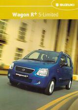 Suzuki Wagon R+ 1.3 GL S-Limited 2003 UK Market Sales Brochure