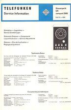 Telefunken Service Manual für Compact 2000 Steuergerät                         .