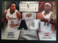 2009-10 Upper Deck dual Game materials Jersey dgaj Gilbert Arenas/Lebron James