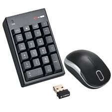 2.4GHz Wireless USB Numeric Keypad Numpad Number 22 keys Pad w Optical mouse