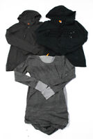 Lucy Womens Long Sleeve Hooded Sweatshirts Tops Gray Black Size Small Lot 3