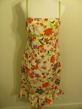 Summer Floral Casual Sleeveless Party Cocktail Women Dress Maggy London Size 8
