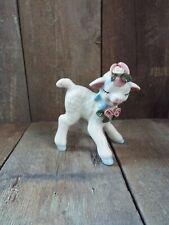 Vintage 1940's Cordelia China Co. Lamb Figurine