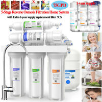 75GPD,5-Stage RO Water Filter System Under Sink For Clean Healthy Drinking Water