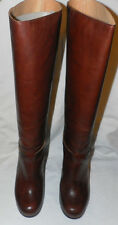 MM6 MAISON MARTIN MARGIELA BROWN LEATHER KNEE HIGH BOOTS Sz. 8 US/ 38 EUR
