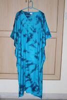 Women'S Long Kaftan Plus Size Night Maxi Gown Tie Dye Lounge Sleep wear S-6X