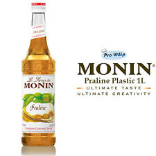 MONIN Coffee Syrups - PRALINE - 1L Plastic Bottle - USED BY COSTA COFFEE