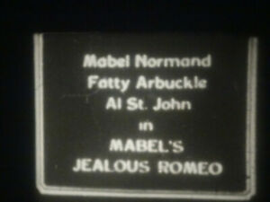 """Standard 8mm silent comedy 1x200'' """"MABEL'S JEALOUS ROMEO"""" Roscoe Fatty Arbuckle"""
