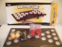Spencer Mini Pong Game Wooden Board Balls and Cups included