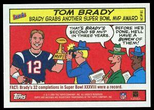 2004 Bazooka Comics #19 Tom Brady SP