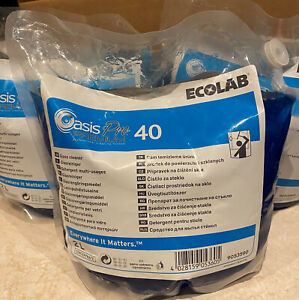 Ecolab Oasis pro 40 Glass Cleaner 2 litre pouch