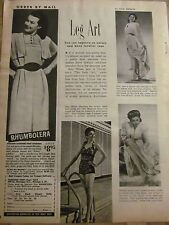 Ann Miller, Full Page Vintage Clipping