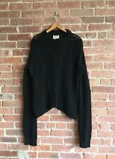 Laneus Women's Sweater Wool/Cashmere/Mohair, Black Size XL Italy