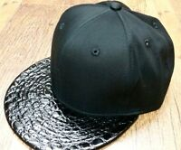 Black snapback cap, bubble Xclsve flat peak baseball hats, mens & ladies hiphop