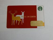 2014 - Peace On Earth - Holiday Issue Starbucks Card - New & Never Swiped