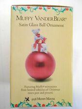 MUFFY VANDERBEAR- MUFFY MOUSE- SATIN GLASS BALL ORNAMENT #5038,  RED!