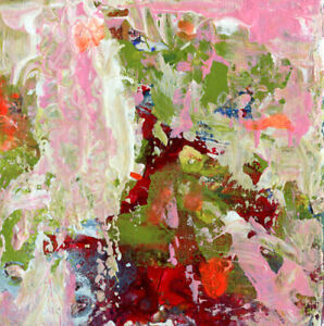 12x12 Print - Abstract Painting Print Cottage Chic Wall Art Katie Jeanne Wood