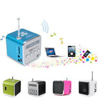 Mini Portable Micro SD TF USB Stereo Bass Speaker Music Player FM Radio PC MP3/4