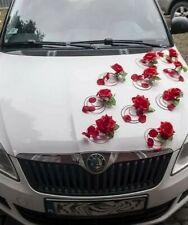 Wedding car decoration Flowers &.petals + bows wedding car flowers  red kit