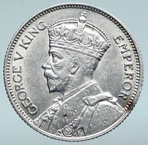 1932 SOUTHERN RHODESIA UK King George V Shield Silver OLD Shilling COIN i89670