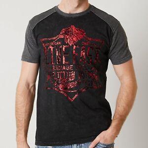 AFFLICTION XXXXL METAL WORKS Indian Skull Headdress Chief Foil T shirt 4XL Tee