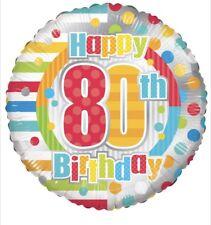 "Happy 80th Birthday 18"" Balloon Birthday Party Decorations"