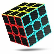 CFMOUR Rubiks Cube, Rubix Cube Speed Cube 3x3x3, Smooth Magic Carbon Fiber Stic