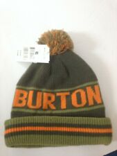 05365219864 Boy s BURTON Reef Beanie Hat Greens Orange New w Tags