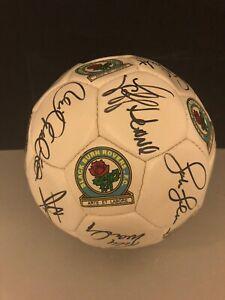 Signed Retro Blackburn Rovers Football Sutton Sherwood Flowers Hendry Hodgson