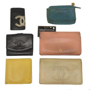 6item set CHANEL Wallet Key case Pouch U2001ISA5